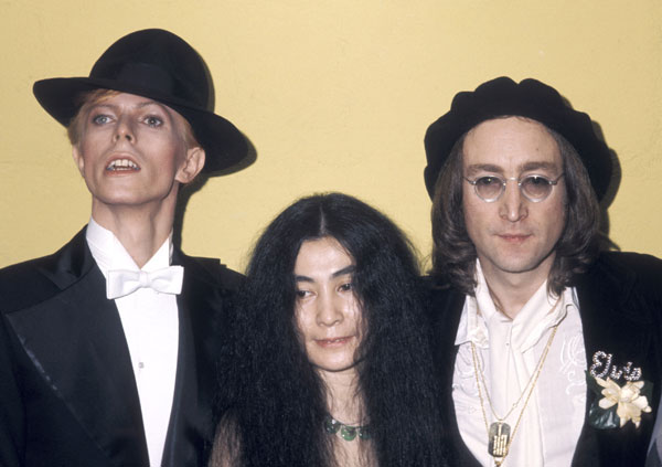 David Bowie, John Lennon e Yoko Ono (c)Getty